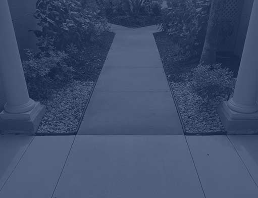 Blue Overlay on Walkway | Concrete Flatwork in Southwest Florida - Solid Pave, LLC.
